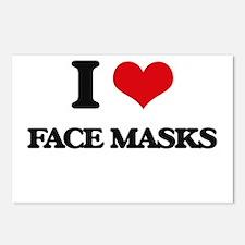 I Love Face Masks Postcards (Package of 8)