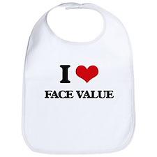I Love Face Value Bib