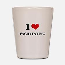 I Love Facilitating Shot Glass