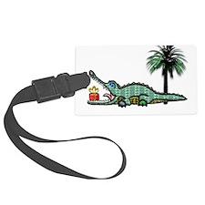 Xmas Gator Gift Luggage Tag