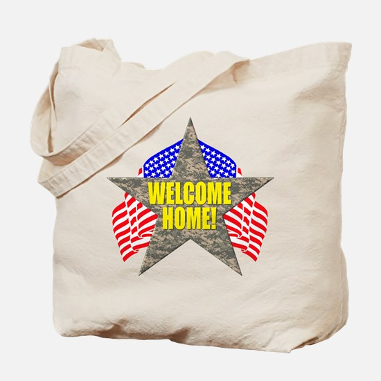 USA Troops Welcome Home Tote Bag