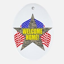 USA Troops Welcome Home Oval Ornament