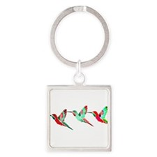 Xmas Hummingbirds Keychains