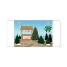 XmasTree Lot at the Beach Aluminum License Plate