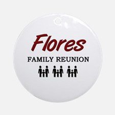 Flores Family Reunion Ornament (Round)