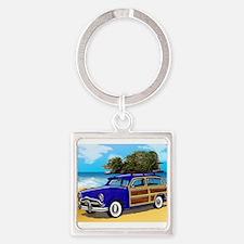 Xmas Tree Woodie Keychains