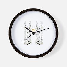 Walk In Woods Wall Clock