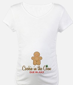 Cookie in Oven Due July Shirt