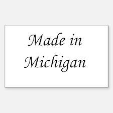 Michigan Rectangle Decal