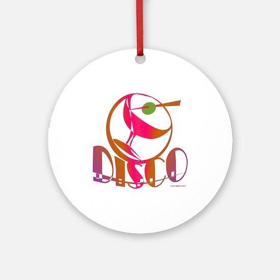 Disco Martini Ornament (Round)