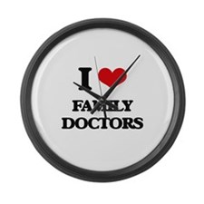 I Love Family Doctors Large Wall Clock