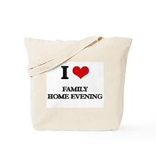 I Love Family Home Evening Tote Bag
