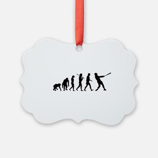Evolution of Baseball Ornament