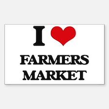 I Love Farmers Market Decal