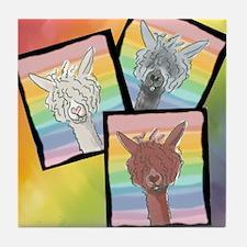 Alpacas All Over! Tile Coaster