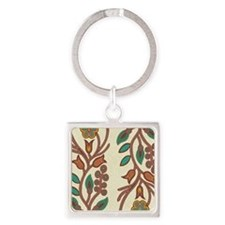 Ojibway Floral Square Keychain
