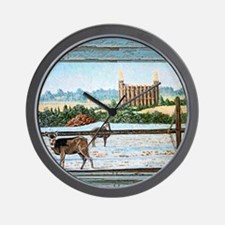 Logan temple oil painting Wall Clock