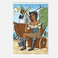 Cute Pirate girl Postcards (Package of 8)