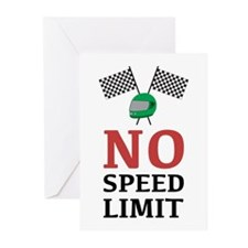No Speed Limit Greeting Cards