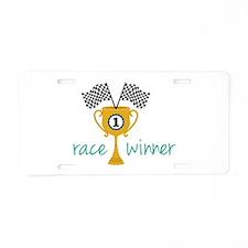 Race Winner Aluminum License Plate