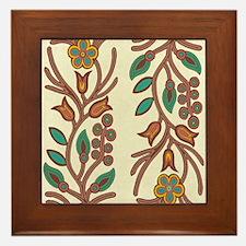 Ojibway Floral Framed Tile