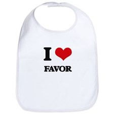 I Love Favor Bib