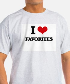I Love Favorites T-Shirt