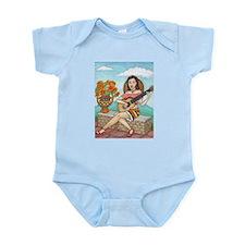 Funny Girl acoustic guitar Infant Bodysuit
