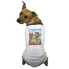 Cool Girl acoustic guitar Dog T-Shirt