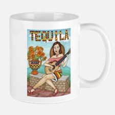 Girl acoustic guitar Mug