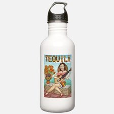 Unique Girl acoustic guitar Water Bottle