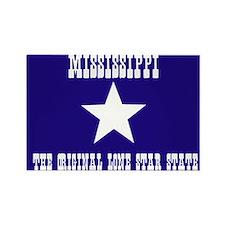 Mississippi Bonnie Blue Flag Rectangle Magnet