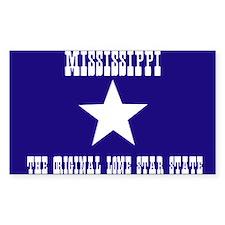 Mississippi Bonnie Blue Flag Rectangle Decal