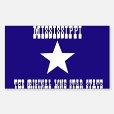 Mississippi Bonnie Blue Flag Rectangle Decal