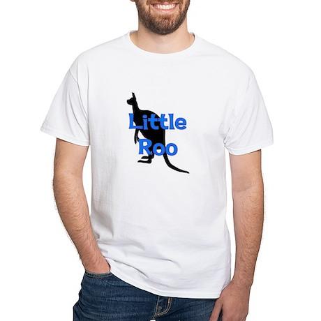 LITTLE ROO (BLUE) White T-Shirt