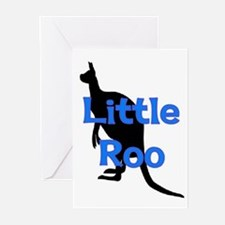 LITTLE ROO (BLUE) Greeting Cards (Pk of 10)