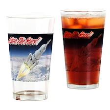 Unto The Stars! Drinking Glass