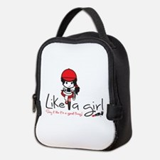 Ride ~ Like a girl! Neoprene Lunch Bag