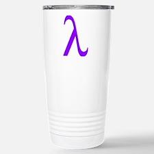 Lavender Lambda Stainless Steel Travel Mug