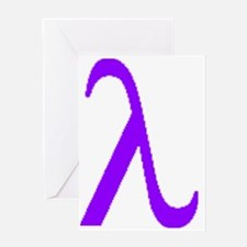 Lavender Lambda Greeting Card