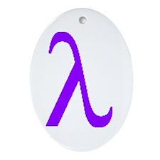 Lavender Lambda Oval Ornament