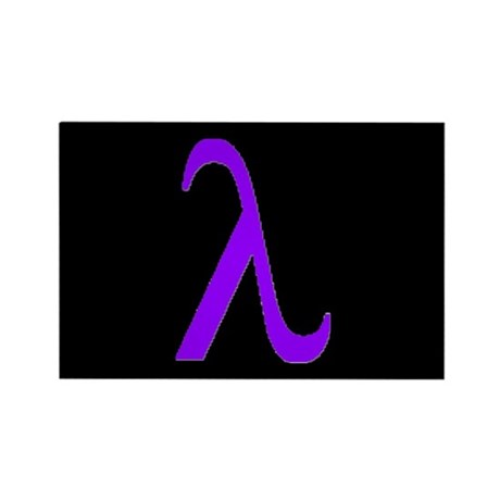 Lavender Lambda Rectangle Magnet