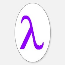 Lavender Lambda Oval Decal