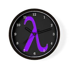 Lavender Lambda Wall Clock