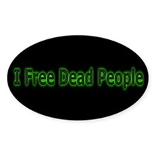 Paranormal Geeks Oval Decal