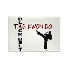Tae Kwon Do Black Belt 2 Rectangle Magnet (100 pac