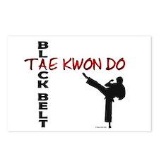 Tae Kwon Do Black Belt 2 Postcards (Package of 8)
