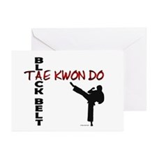 Tae Kwon Do Black Belt 2 Greeting Cards (Package o