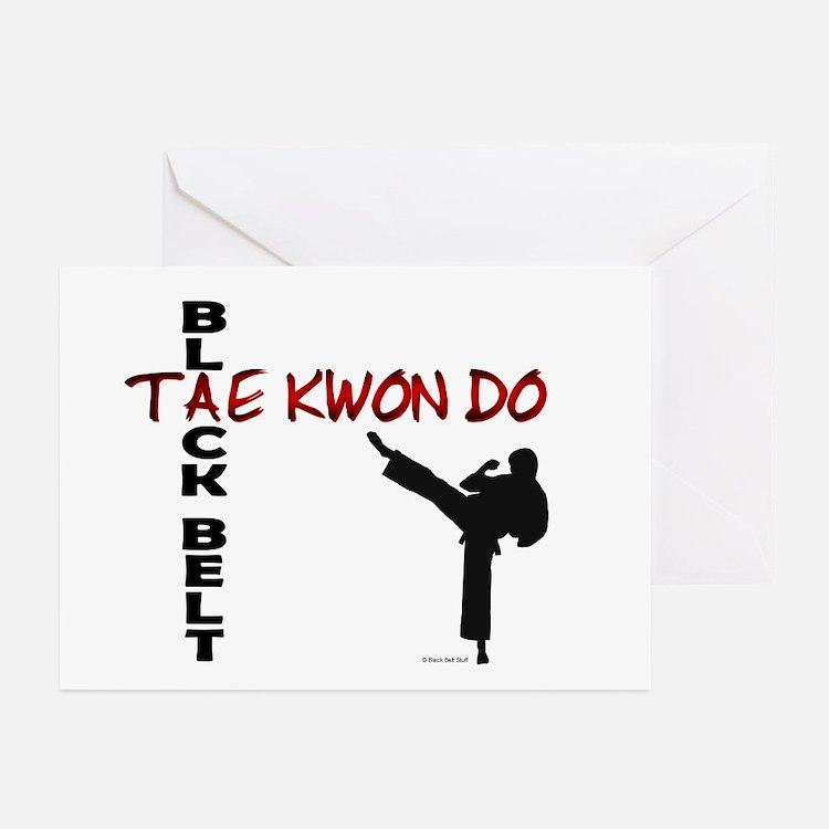 Tae Kwon Do Black Belt 2 Greeting Cards (Package o