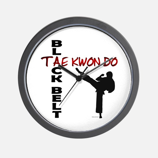Tae Kwon Do Black Belt 2 Wall Clock